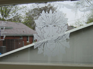 Etched Face Window