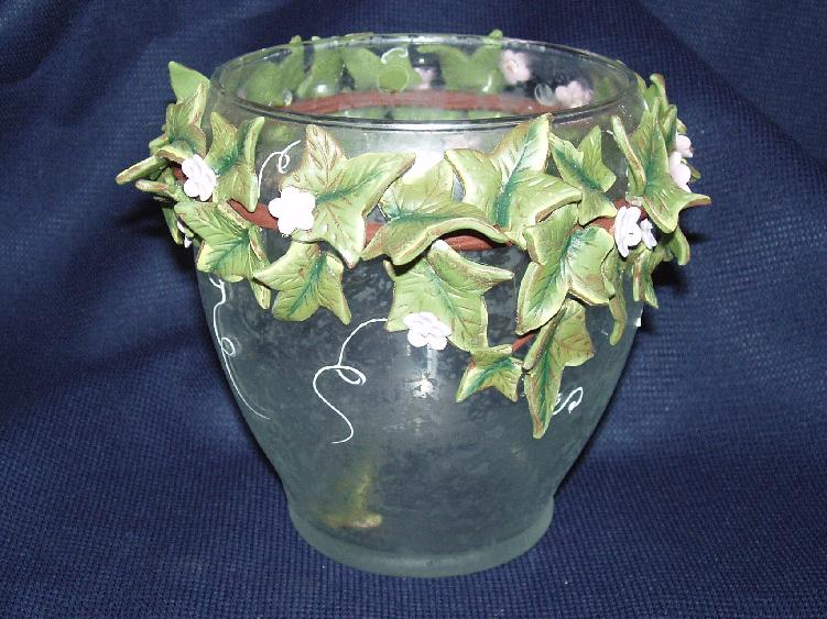Etched Jar with Dimensional Ivy