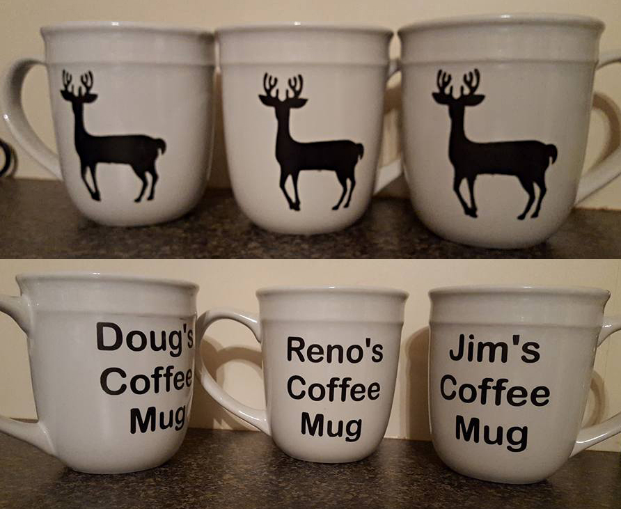 Etched Hunting Mugs