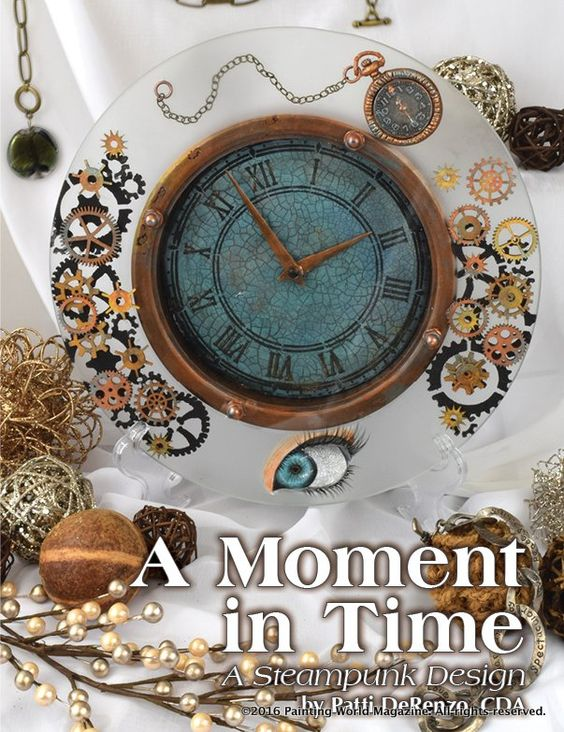 A Moment in Time Steampunk Clock
