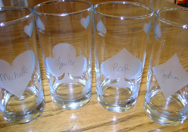 Party Glasses with Names