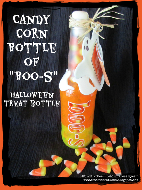 "Halloween Candy Corn Bottle of ""Boo-s"""