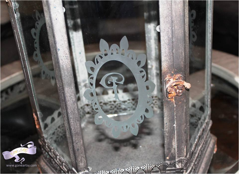 Etched Wedding Lantern