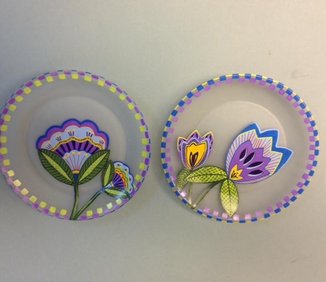 gigi pattern popart plates