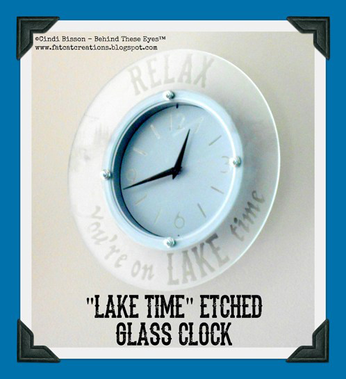 """Lake Time"" Etched Glass Clock"