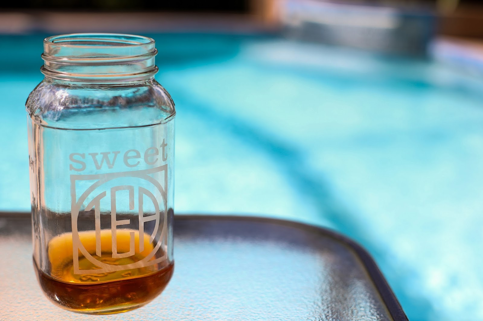 Etched Sweet Tea Mason Jar