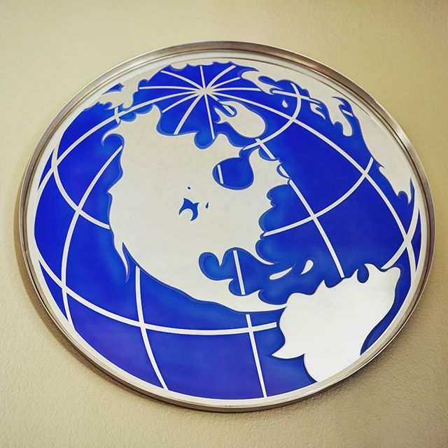 Etched Globe Mirror Artpiece 2