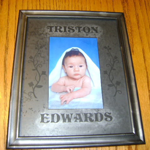 Etched Frame for Baby