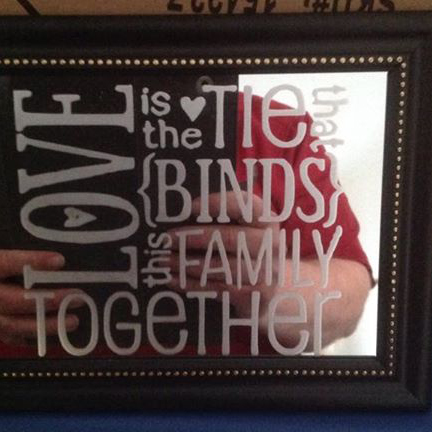 Etched Family Mirror