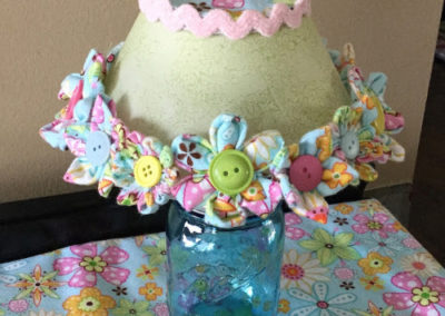 WCK Fabric Flower Lampshade