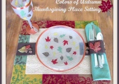 Colors of Autumn Thanksgiving Placesetting