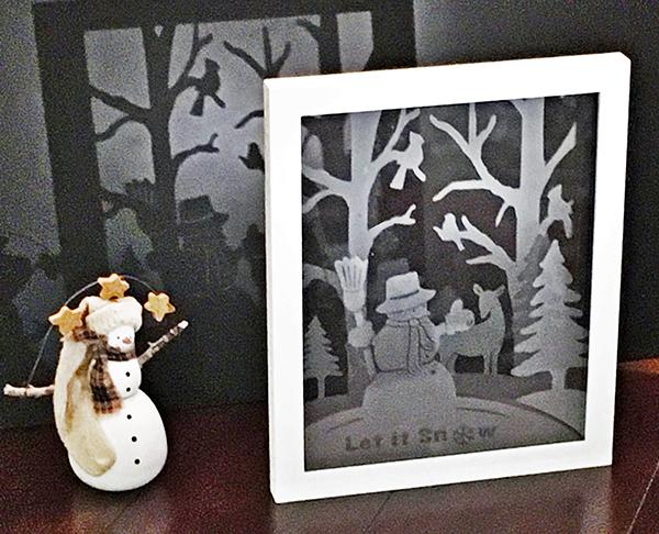 Winter Wonderland Etched Float Frame
