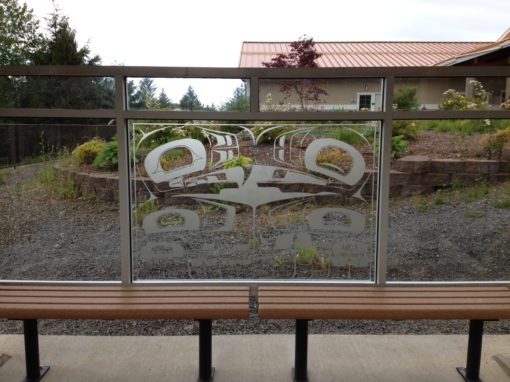 Etched Bus Stop in Alaska