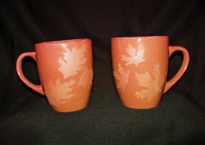 Etched Autumn Mugs