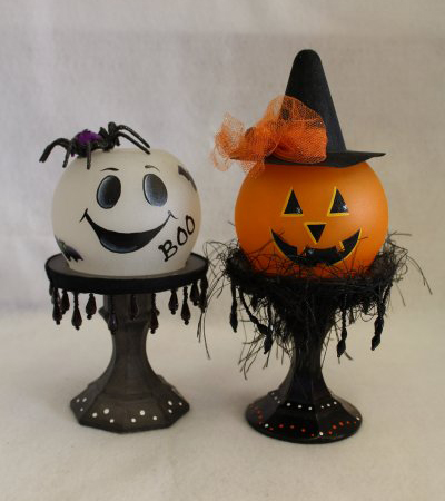 Halloween Painted Globes