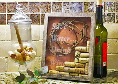 Wine Cork Shadowbox