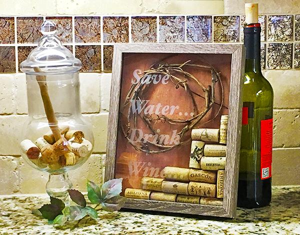 Wine Cork Shadowbox