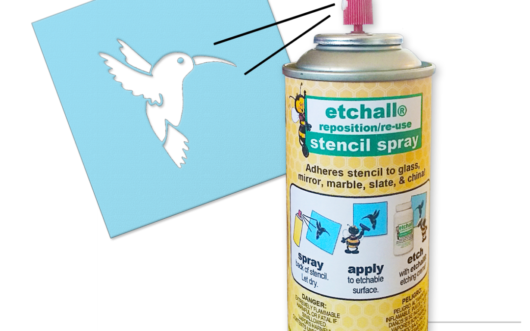 etchall® reposition/reuse stencil spray