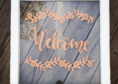 "Upcycled ""Welcome"" Window"