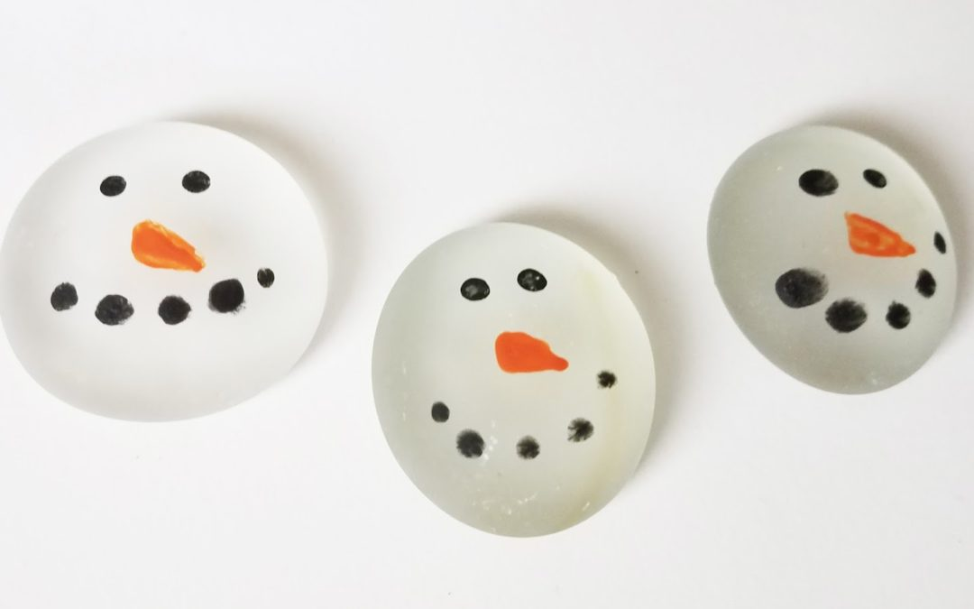 Etched Marble Snowmen