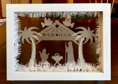 Etched Float Frame Nativity