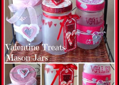 Valentine Treats Mason Jars