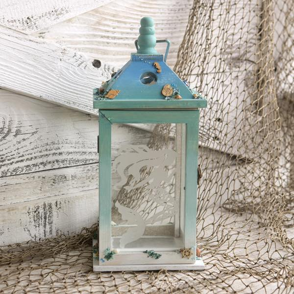 Etched Mermaid Lantern