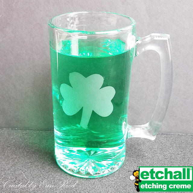 Dollar Tree Etched Shamrock Beer Stein