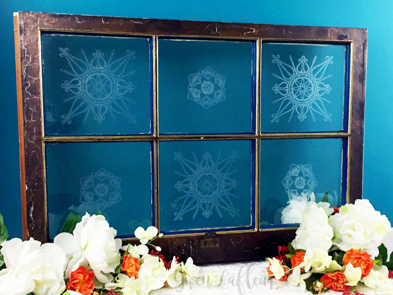 Create a Beautifully Etched Decorative Window with Stencils