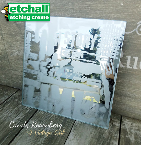 Etched Mirror with Stencil Girl Stencils