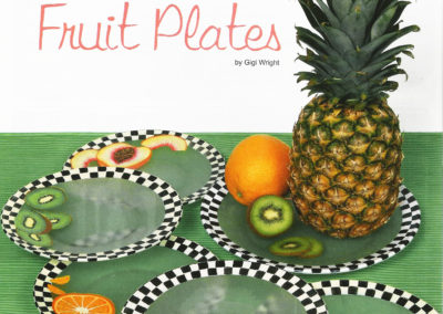 Etched Glass Fruit Plates for Paintworks Magazine