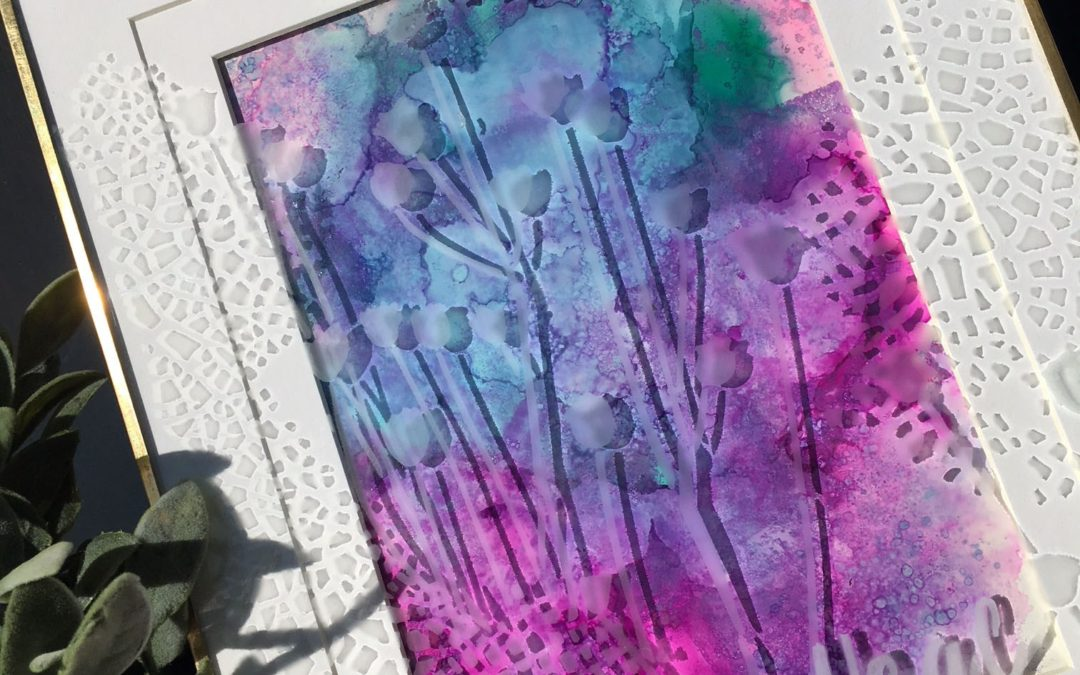 Creating Art with etchall, Stencils and Alcohol Inks