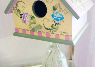 Wine Glass Birdhouse