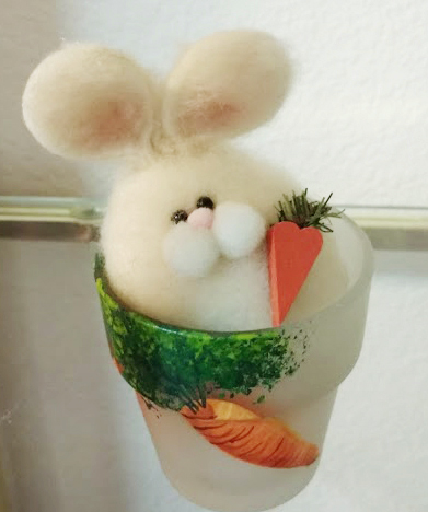 Easter Bunny Flower Pot