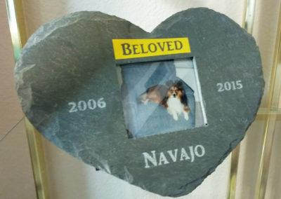 Dog Memorial Slate Frame