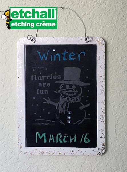 Etched Chalkboard Slate
