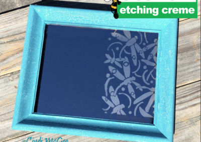 Etched Dragonflies Mirror