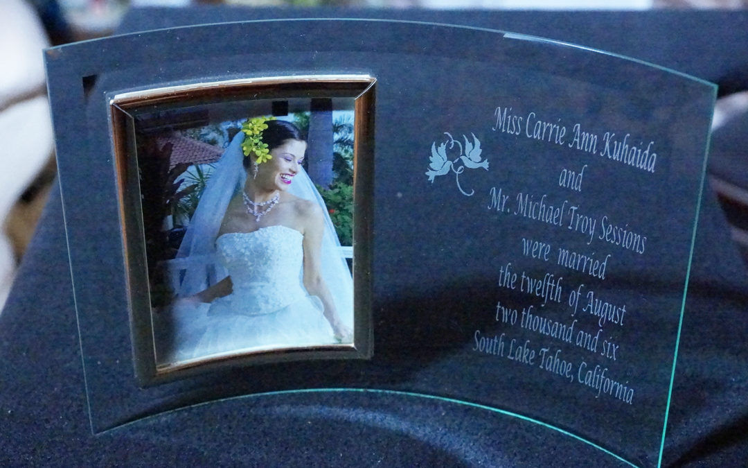 Curved Glass Frame for Bride
