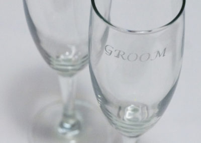 Etched Glasses for Bride & Groom