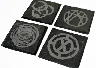 Etched Slate Coasters