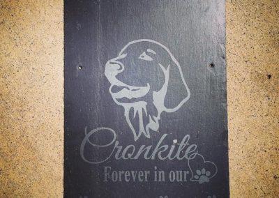 Dog Memorial Slate