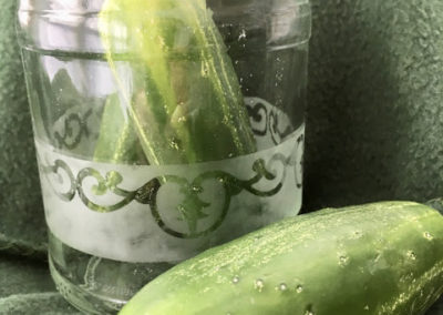 Etched Pickle Jar