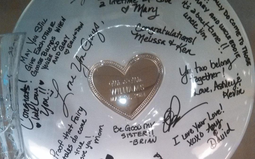 Etched & Signed Keepsake Plate