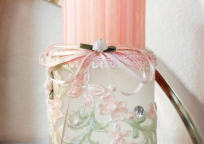 Etched & Embellished Candle Holder