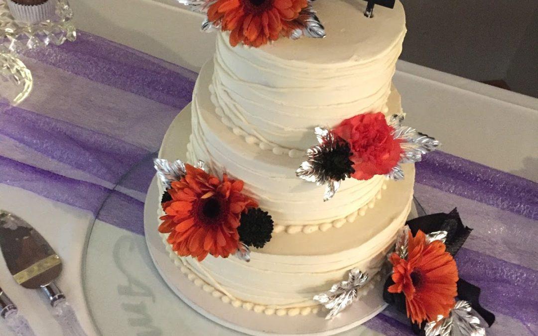 Etched Wedding Cake Platter