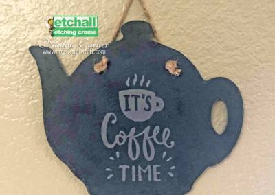 It's Coffee Time Slate Sign