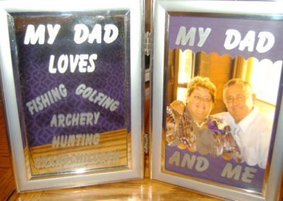 Etched Father's Day Frame