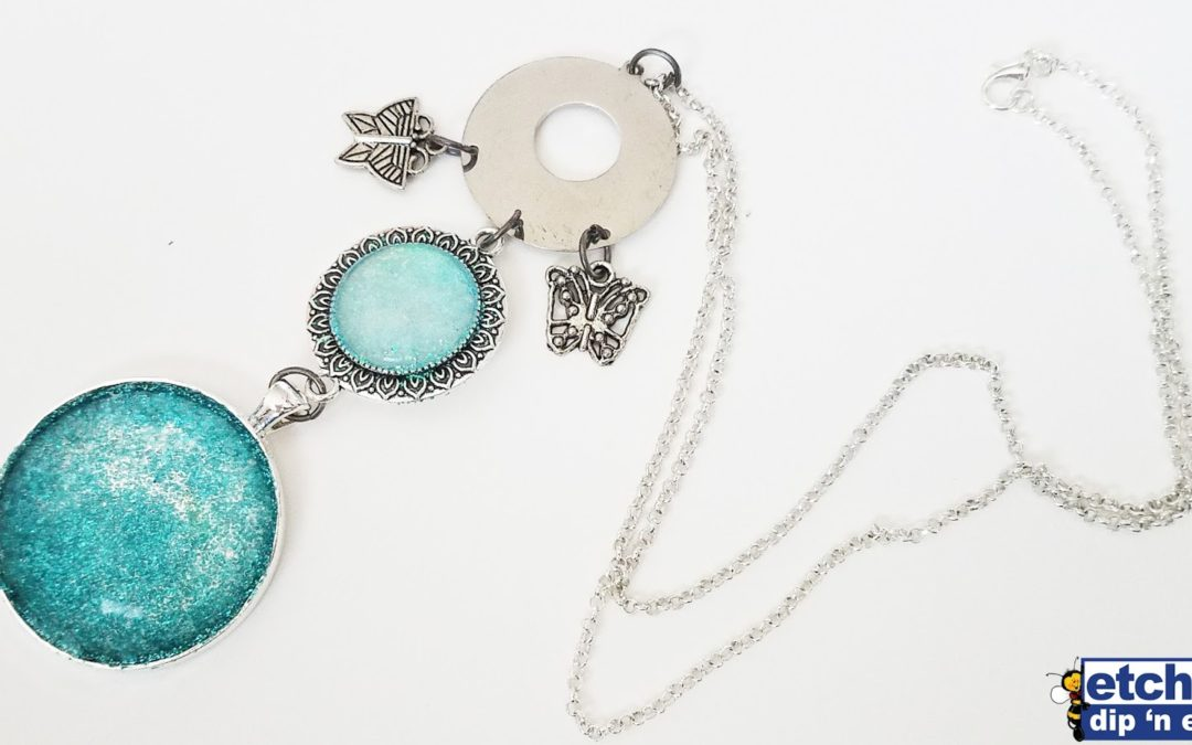 DIY Etched Glitter Jewelry