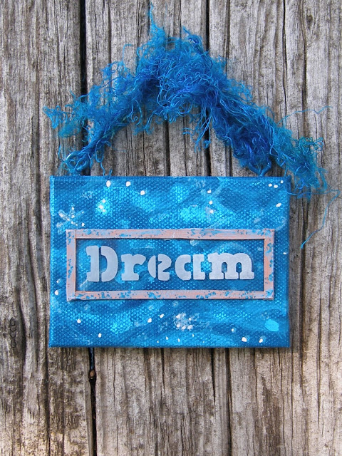 Upcycled DREAM Plaque