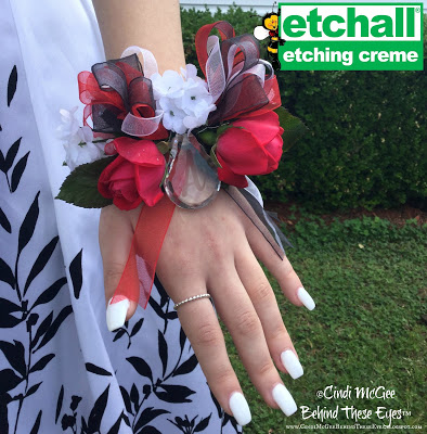 Monogrammed Crystal Prom Corsage
